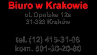 Dane kontaktowe - Kraków