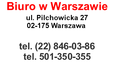 Dane kontaktowe - Warszawa