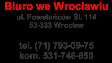 Dane kontaktowe - Wrocław